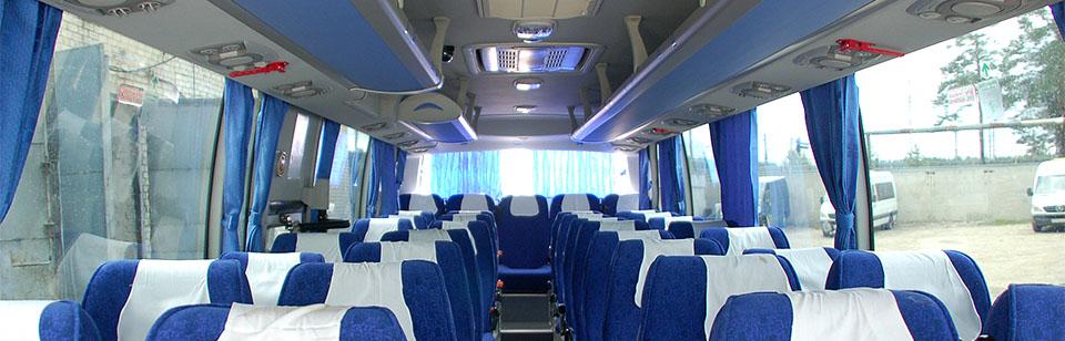 Автобусы в аренду | У нас Вы можете заказать комфортабельные современные автобусы Mersedes, Higer, Setra как для поездок по городу, так и на дальние расстояния.